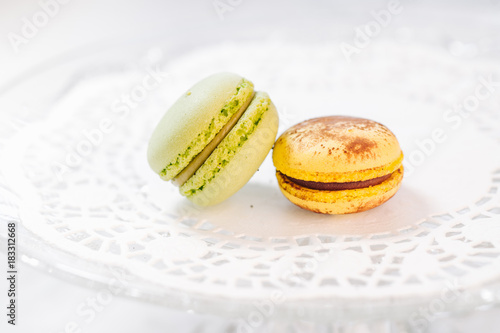 Macarons french pastries Poster