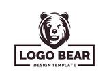 Bear logo - vector illustration, emblem design on white background - 183317078