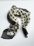 Soft black dot print scarf - 183320092