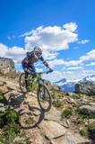 Mountain biking in Whistler, British Columbia, Canada - summer 2017. Top of the world trail