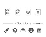 Document, Report and Checklist line icons. - 183323878