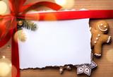 Christmas holidays surprise; Christmas greeting card background - 183324852