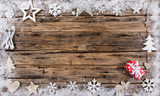 Christmas decoration on wooden background - 183328038