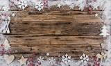 Christmas decoration on wooden background - 183328073