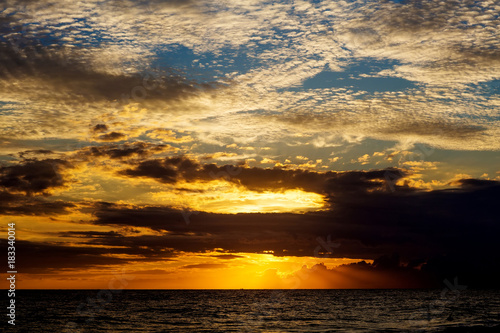 Foto op Canvas Tropical strand Scenic view at the ocean at the tropical coast of Sri Lanka