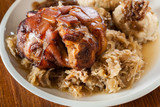 Pork knuckle with fried sauerkraut - 183344245