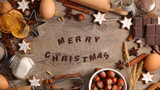merry christmas background with spices and biscuit - 183346855