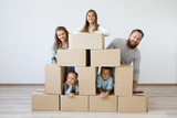 Family moving to a new house - 183347843
