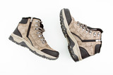Mountain Hiking Boots On White Background Top Angle View - 183348247