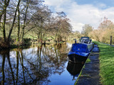 Salterforth England  The Leeds Liverpool Canal at Salterforth in the beautiful countryside on the Lancashire Yorkshire border in Northern England