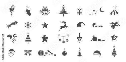 Weihnachten Advent Icons Set