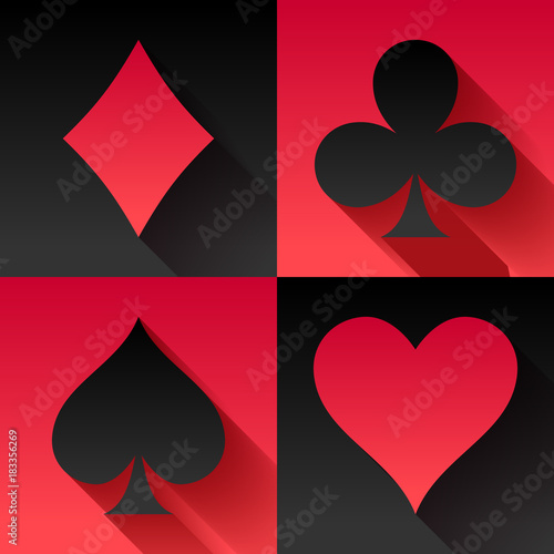Playing cards suits set.