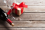 Red wine and gift box - 183357443