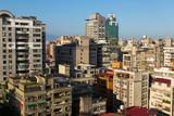 Beautiful cityscape with blue sky in Taipei, Taiwan - 183359680
