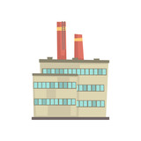 Industrial manufactury building vector illustration