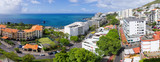 Panoramic seascape in Funchal city, Madeira