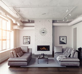 Modern living room interior - 183367690