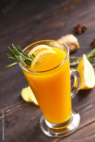 Papiers peints The tea with orange and ginger
