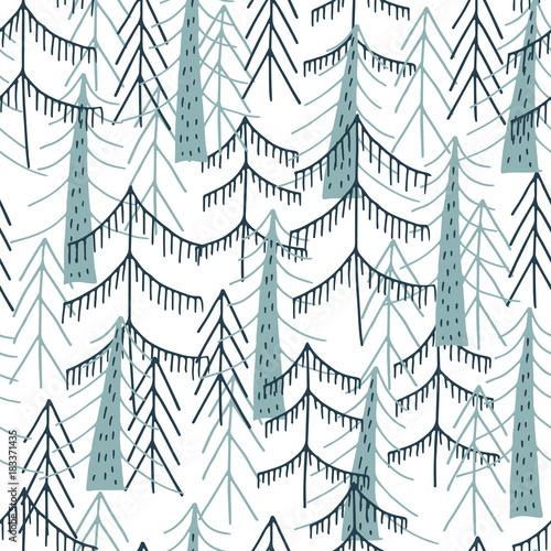 Materiał do szycia Woodland jednolity wzór. Wektor lasu wydruku.