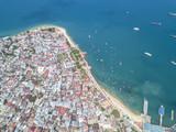 Aerial view of Zanzibar, Stone Town. Tanzania - 183374456