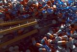 Tabletten und Spritzen - 183375244