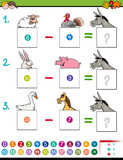 maths subtraction game with farm animals - 183378813