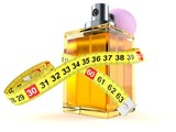 Perfume bottle with centimeter - 183395235