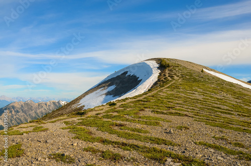 Plexiglas Lente Mountain Landscape in Spring
