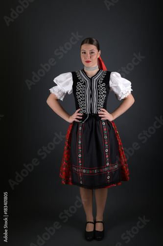 Fototapeta Folk dance in Slovakia