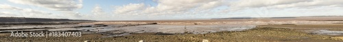 Foto op Canvas Canada Low tide on Bay of Fundy at Joggins Fossil Cliffs, Nova Scotia, Canada