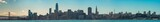 Panoramic view of San Francisco Ca. from the Bay Bridge down to Coit Tower December 2017
