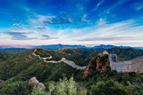 Beijing, China - AUG 12, 2014: Sunrise at Jinshanling Great Wall of China - 183422459