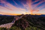 Beijing, China - AUG 12, 2014: Sunrise at Jinshanling Great Wall of China - 183422461