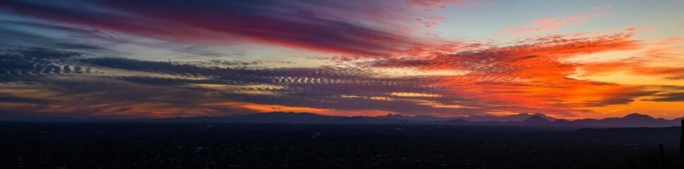 Tucson Arizona from Mt. Lemmon at sunset.