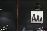 A alphabet on a sign - 183427617