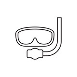 underwater mask icon illustration - 183434057
