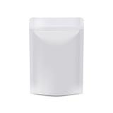 Realistic white blank food packaging