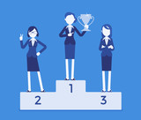 Women put on pedestal of honor - 183449423