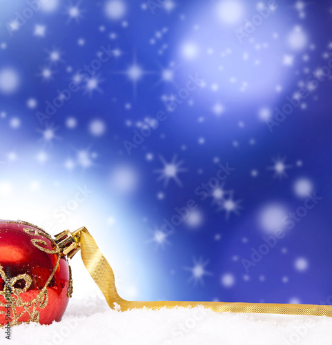 Foto op Aluminium Bol christmas backgrounds with ornaments and christmas ball