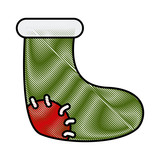 Christmas boot isolated icon vector illustration graphic design - 183452617