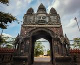 The entrance to Wat Sangker, in Battambang, Cambodia