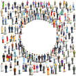 Personengruppen, Menschenmassen Illustration