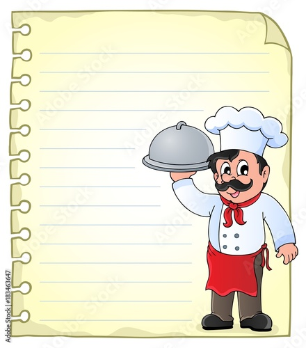 Foto op Canvas Voor kinderen Notepad page with chef theme 1