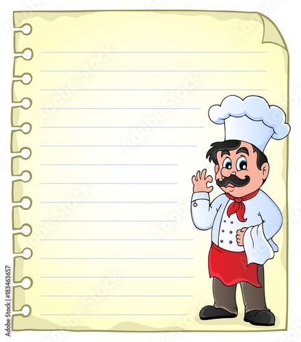 Foto op Canvas Voor kinderen Notepad page with chef theme 2