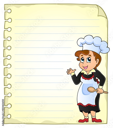 Foto op Canvas Voor kinderen Notepad page with chef theme 3