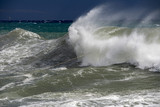 tsunami tropical hurricane on the sea - 183464413