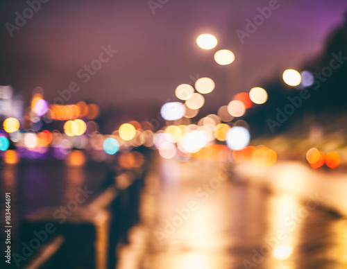 Abstract, Beautiful bokeh light of city at night - 183464691