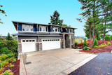 Luxury new construction home with stone veneer siding. - 183474471