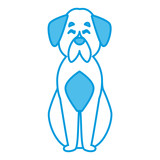 Cute dog cartoon icon vector illustration graphic design - 183481273