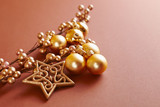 Golden Christmas Ornaments - 183490812
